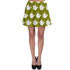 Cute Whale Illustration Pattern Skater Skirts