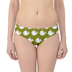 Cute Whale Illustration Pattern Hipster Bikini Bottoms