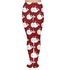 Cute Whale Illustration Pattern Women s Tights
