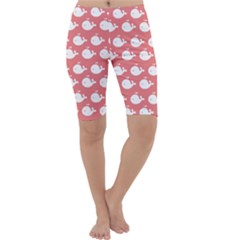 Cute Whale Illustration Pattern Cropped Leggings