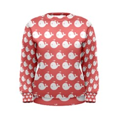 Cute Whale Illustration Pattern Women s Sweatshirts