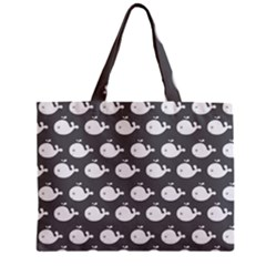 Cute Whale Illustration Pattern Zipper Tiny Tote Bags