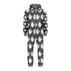 Cute Whale Illustration Pattern Hooded Jumpsuit (Kids)