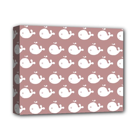 Cute Whale Illustration Pattern Deluxe Canvas 14  X 11