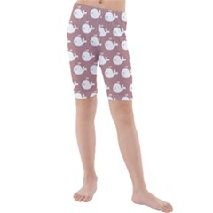 Cute Whale Illustration Pattern Kid s swimwear