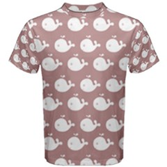 Cute Whale Illustration Pattern Men s Cotton Tees