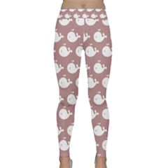 Cute Whale Illustration Pattern Yoga Leggings
