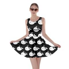 Cute Whale Illustration Pattern Skater Dresses