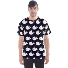 Cute Whale Illustration Pattern Men s Sport Mesh Tees