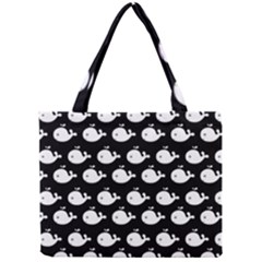 Cute Whale Illustration Pattern Tiny Tote Bags