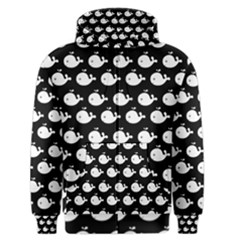 Cute Whale Illustration Pattern Men s Zipper Hoodies