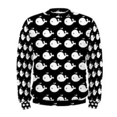 Cute Whale Illustration Pattern Men s Sweatshirts