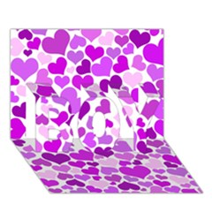 Heart 2014 0929 Boy 3d Greeting Card (7x5)