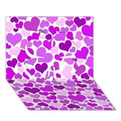 Heart 2014 0929 Clover 3d Greeting Card (7x5)