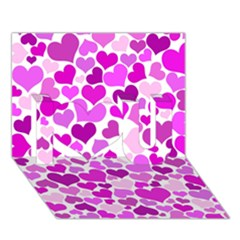Heart 2014 0930 I Love You 3D Greeting Card (7x5)