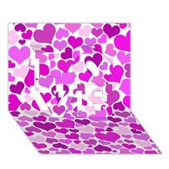 Heart 2014 0930 LOVE 3D Greeting Card (7x5)