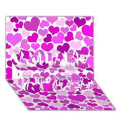 Heart 2014 0930 You Are Invited 3d Greeting Card (7x5)