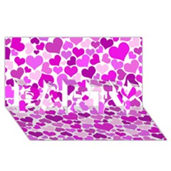 Heart 2014 0930 PARTY 3D Greeting Card (8x4)