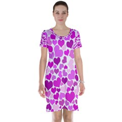 Heart 2014 0930 Short Sleeve Nightdresses