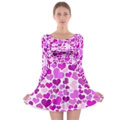 Heart 2014 0930 Long Sleeve Skater Dress