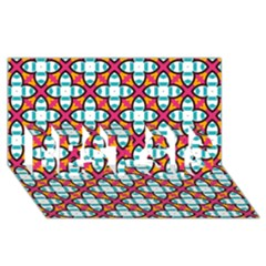 Cute Pattern Gifts BEST SIS 3D Greeting Card (8x4)
