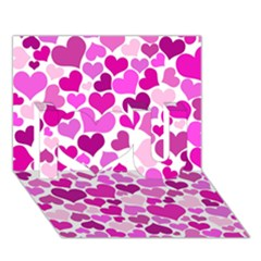 Heart 2014 0931 I Love You 3d Greeting Card (7x5)