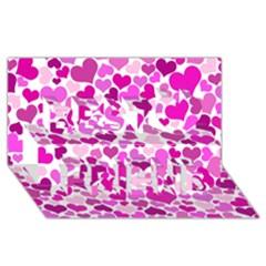Heart 2014 0931 Best Friends 3D Greeting Card (8x4)