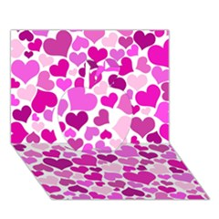 Heart 2014 0931 Apple 3d Greeting Card (7x5)