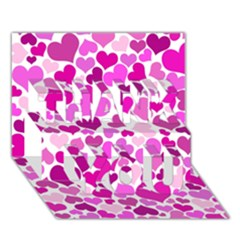 Heart 2014 0931 THANK YOU 3D Greeting Card (7x5)