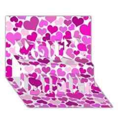 Heart 2014 0931 You Did It 3D Greeting Card (7x5)