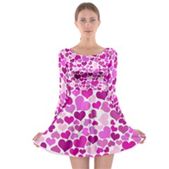 Heart 2014 0931 Long Sleeve Skater Dress