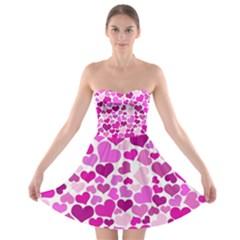 Heart 2014 0931 Strapless Bra Top Dress