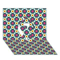 Cute Pattern Gifts Ribbon 3d Greeting Card (7x5)