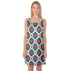 Cute Pattern Gifts Sleeveless Satin Nightdresses