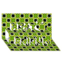 Cute Pattern Gifts Best Friends 3D Greeting Card (8x4)