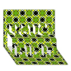 Cute Pattern Gifts You Did It 3D Greeting Card (7x5)