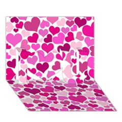 Heart 2014 0932 I Love You 3d Greeting Card (7x5)