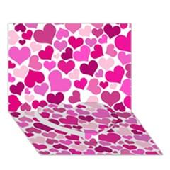 Heart 2014 0932 Heart Bottom 3D Greeting Card (7x5)