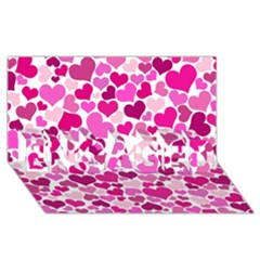 Heart 2014 0932 ENGAGED 3D Greeting Card (8x4)