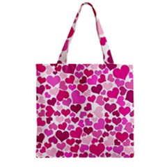 Heart 2014 0932 Zipper Grocery Tote Bags