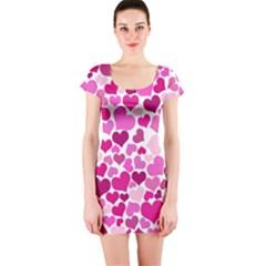 Heart 2014 0932 Short Sleeve Bodycon Dresses