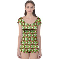 Cute Pattern Gifts Short Sleeve Leotard