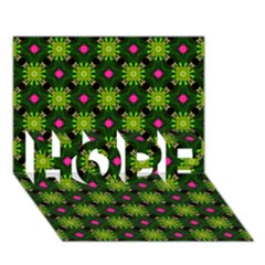 Cute Pattern Gifts HOPE 3D Greeting Card (7x5)