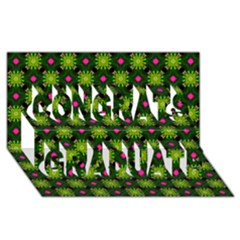 Cute Pattern Gifts Congrats Graduate 3D Greeting Card (8x4)