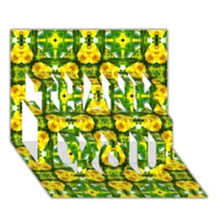 Cute Pattern Gifts Thank You 3d Greeting Card (7x5)
