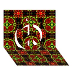 Cute Pattern Gifts Peace Sign 3d Greeting Card (7x5)
