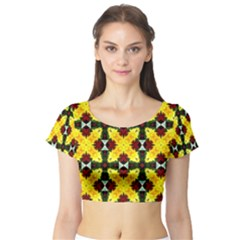 Cute Pattern Gifts Short Sleeve Crop Top