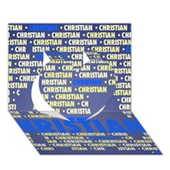 Christian Heart 3d Greeting Card (7x5)
