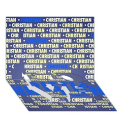 Christian LOVE Bottom 3D Greeting Card (7x5)