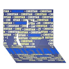 Christian Apple 3d Greeting Card (7x5)